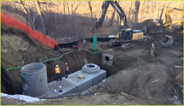Stormceptor MAX used for Residential Retrofit Sheep River's Outfall